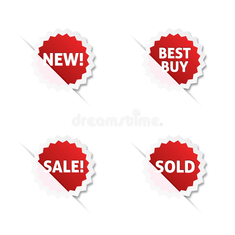 Download Försäljningsetiketter vektor illustrationer. Illustration av meddelande - 19785399