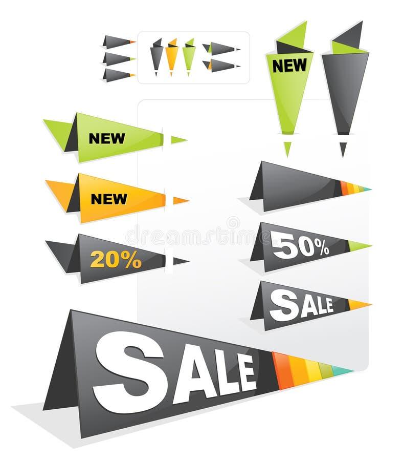 försäljningsetikettsetikett vektor illustrationer