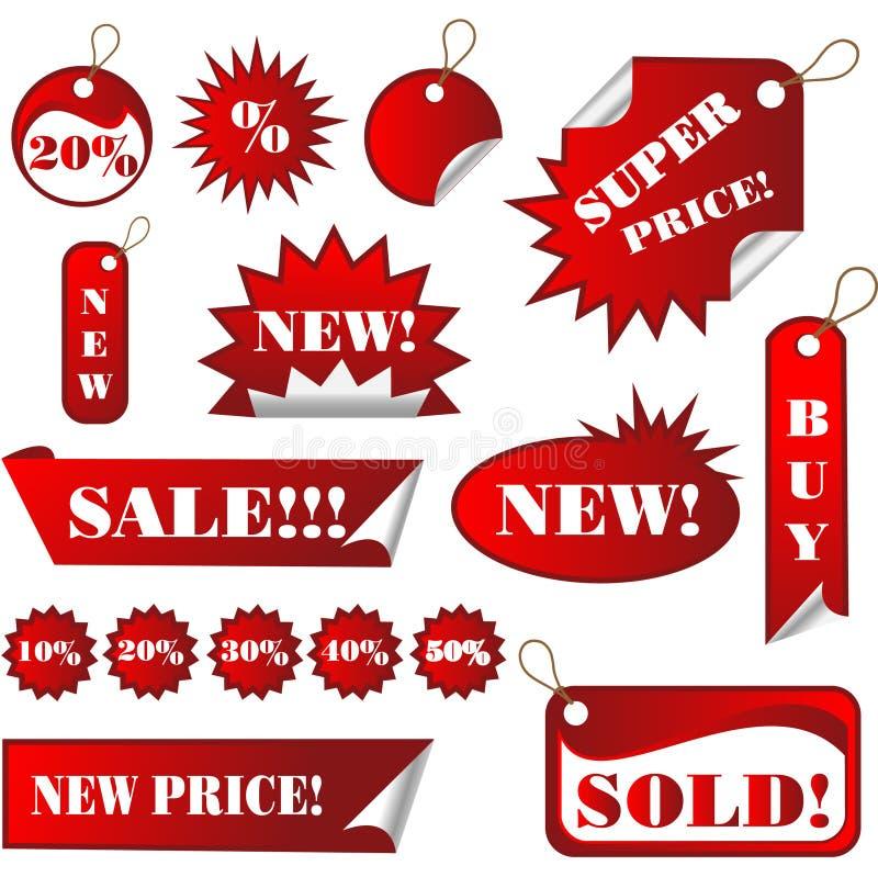 försäljningsetikettsetiketter royaltyfri illustrationer
