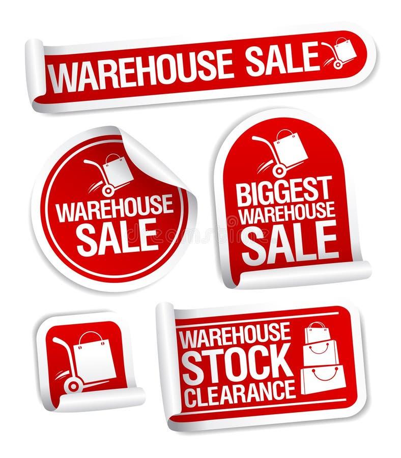 försäljningsetikettslager vektor illustrationer