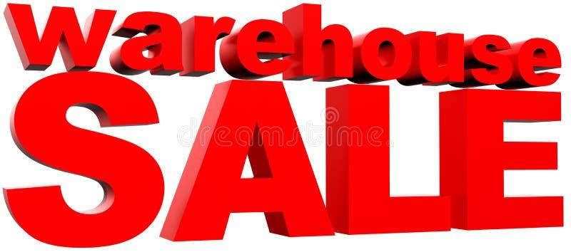 försäljningslager stock illustrationer