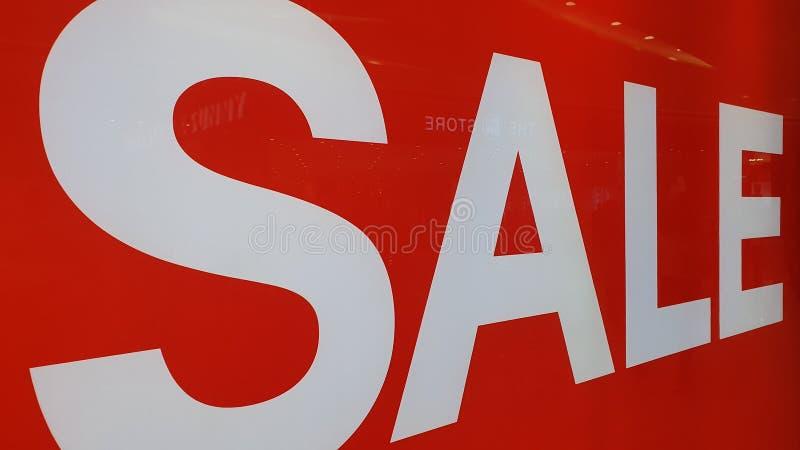 Försäljningsmeddelande vid Mall i Cebu, Filippinerna arkivbild