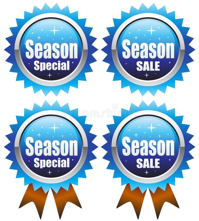 försäljningssäsongspecialvinter vektor illustrationer