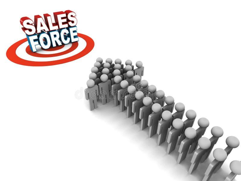 Försäljningsstyrka stock illustrationer