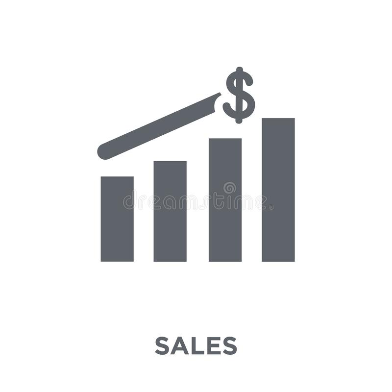 Försäljningssymbol från samling stock illustrationer