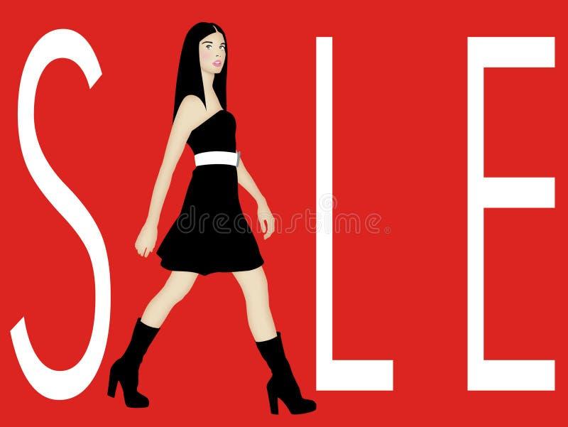 försäljningstecken vektor illustrationer