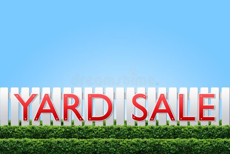 försäljningsteckengård royaltyfria foton