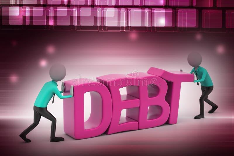 försök för folk 3d att undvika skuld royaltyfri illustrationer