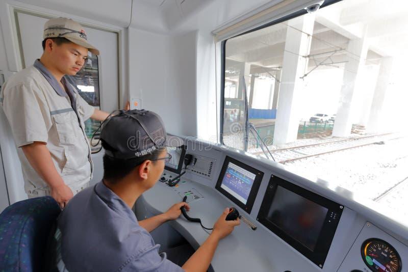 Försök för Xiamen gångtunneldrev att köra arkivfoton