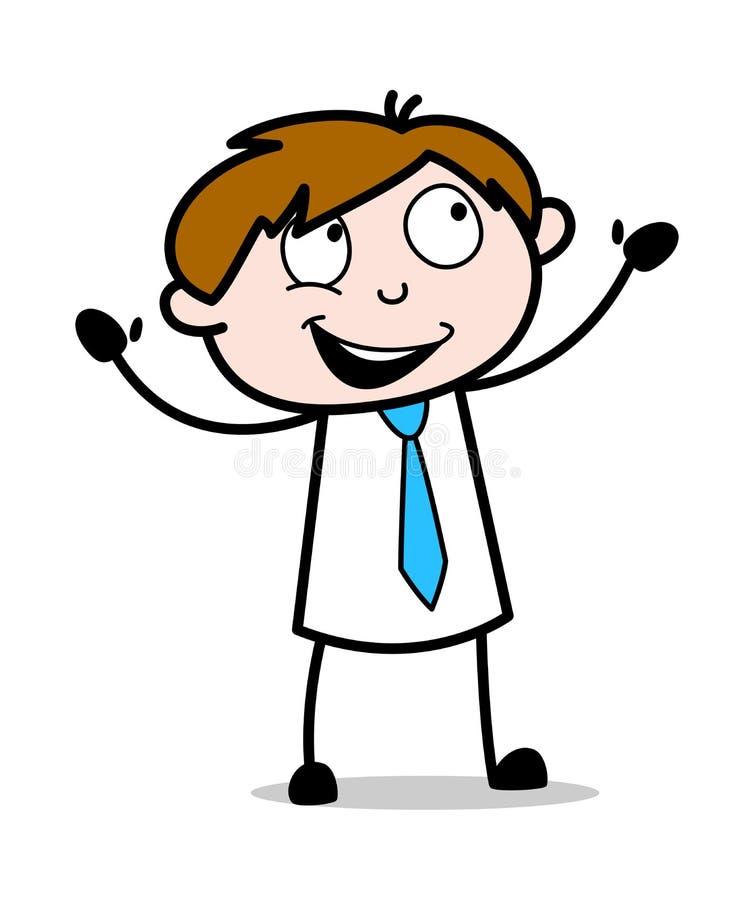 Försöka att fånga - den kontorsrepresentantEmployee Cartoon Vector illustrationen royaltyfri illustrationer
