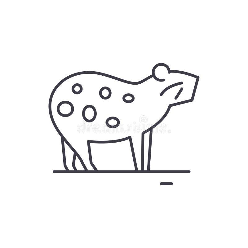 Försökskaninlinje symbolsbegrepp Linjär illustration för försökskaninvektor, symbol, tecken royaltyfri illustrationer