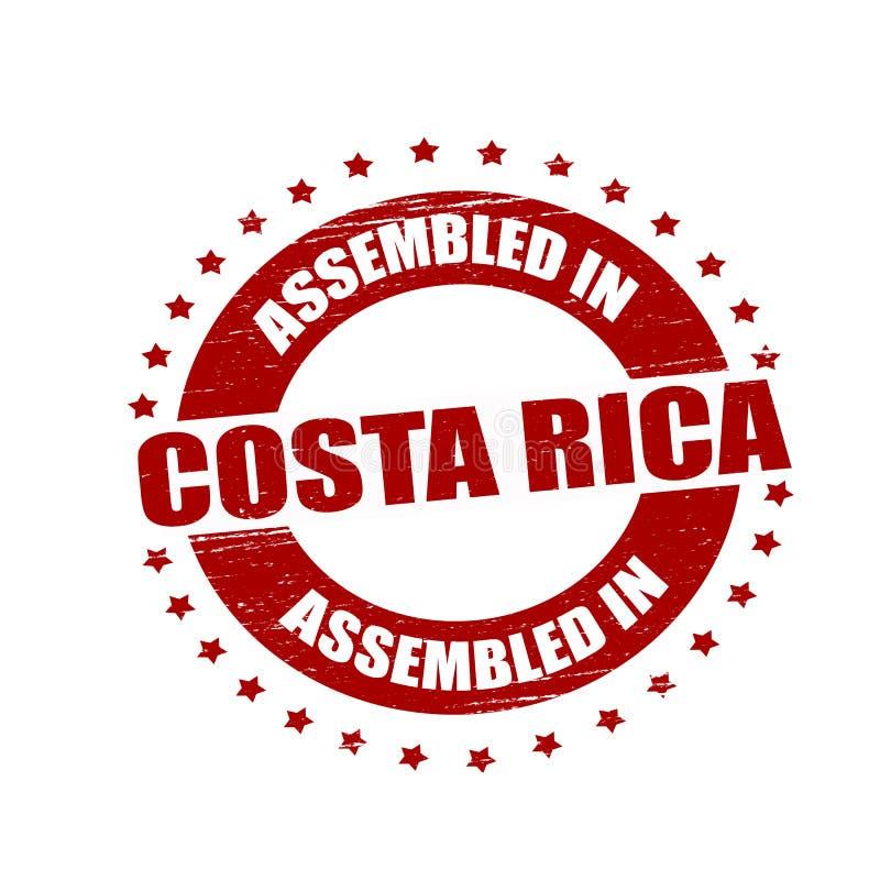 Församlat i Costa Rica royaltyfri illustrationer