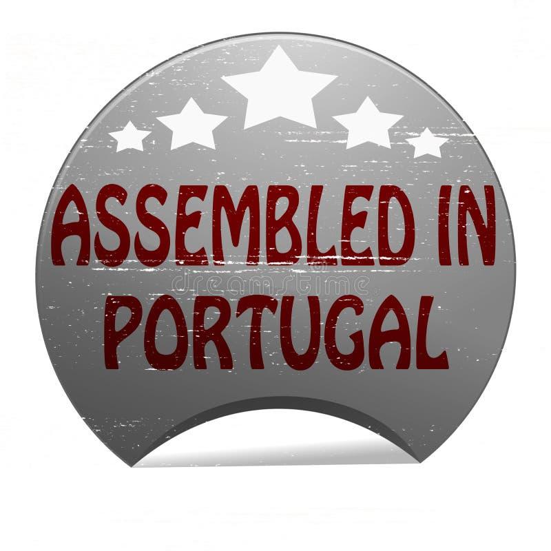 Församlat i Portugal vektor illustrationer