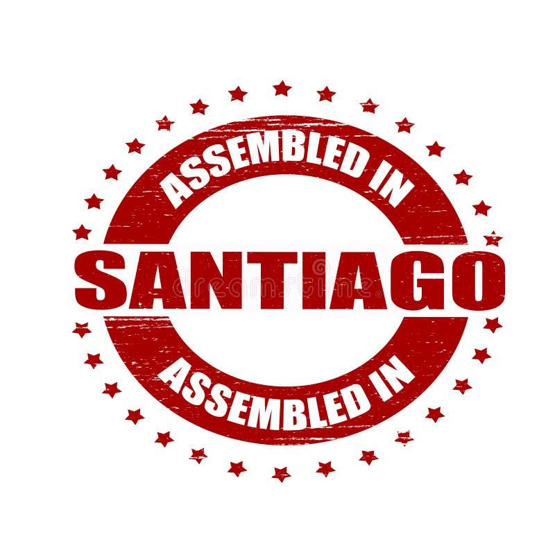 Församlat i Santiago royaltyfri illustrationer