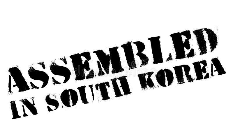 Församlat i Sydkorea den rubber stämpeln royaltyfri illustrationer