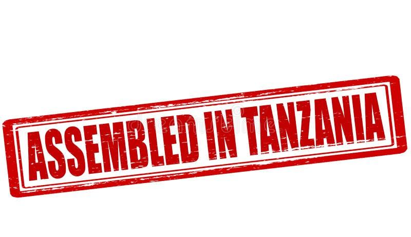 Församlat i Tanzania stock illustrationer