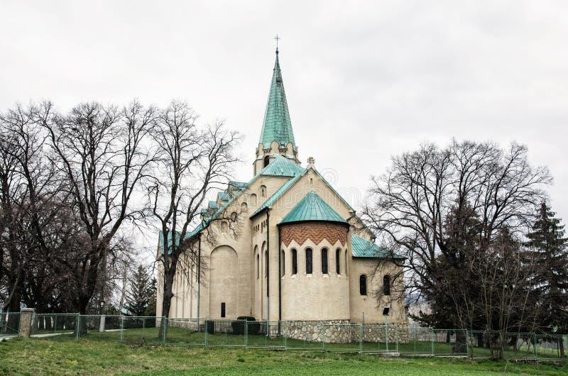 Församlingkyrka av den St Stephen konungen, Nove Sady, Slovakien fotografering för bildbyråer