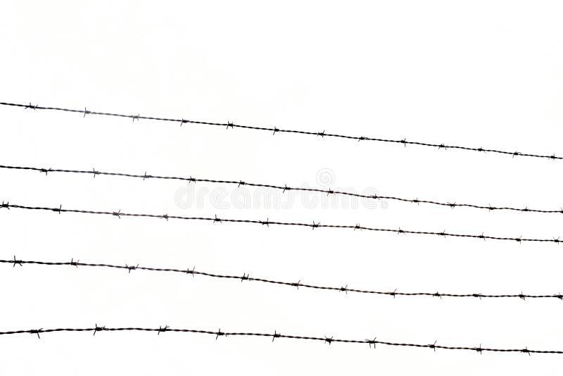 förse med en hulling stakettråd arkivfoton