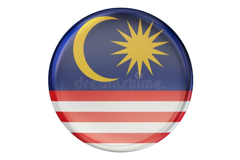 Förse med märke med flaggan av Malaysia, tolkningen 3D stock illustrationer