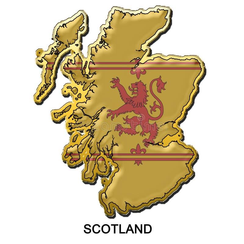 förse med märke metall annat stift scotland stock illustrationer