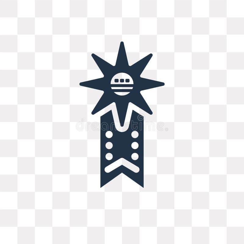 Förse med märke vektorsymbolen som isoleras på genomskinlig bakgrund, emblemtra stock illustrationer