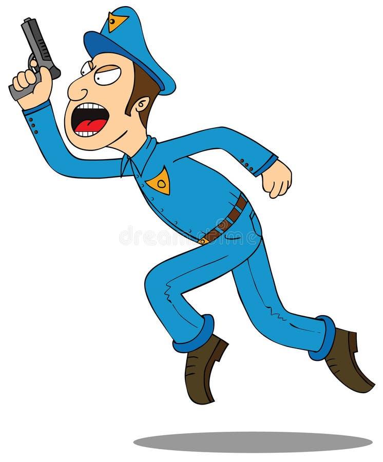 Förse med polis-sätt upp dina händer stock illustrationer