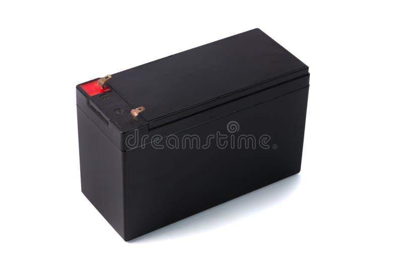 Förseglat UPS batteri som isoleras på vit bakgrund royaltyfri foto