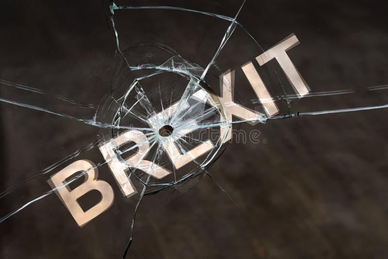 Försenad eller avbruten brexit royaltyfria foton