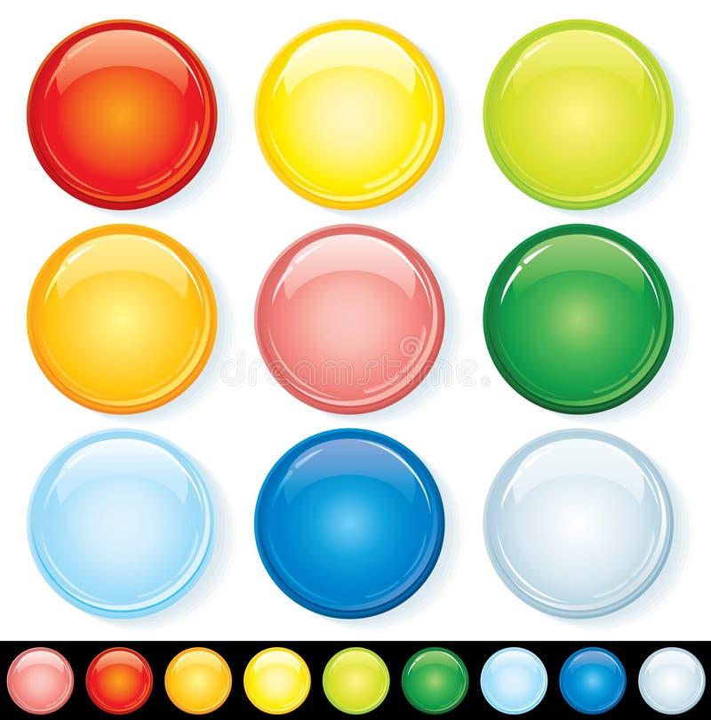 förser med märke färgrikt royaltyfri illustrationer