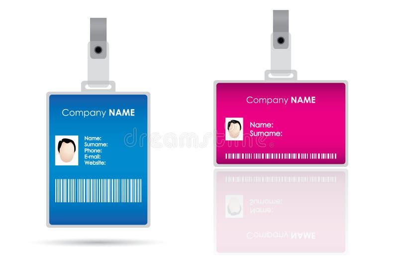 förser med märke name etiketter för ids vektor illustrationer