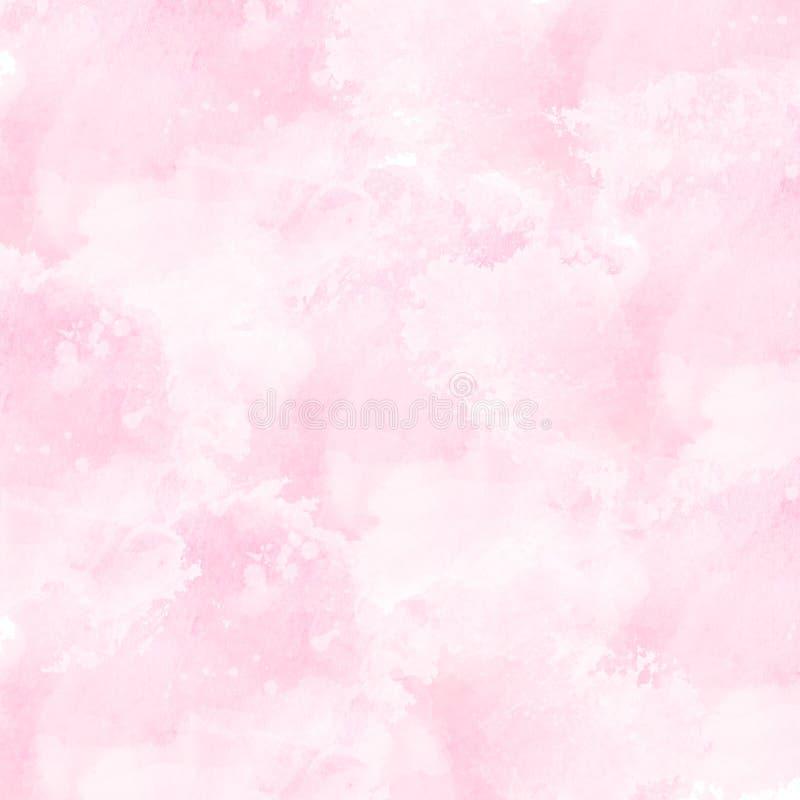 försiktig rosa vattenfärgbakgrundstextur royaltyfri illustrationer