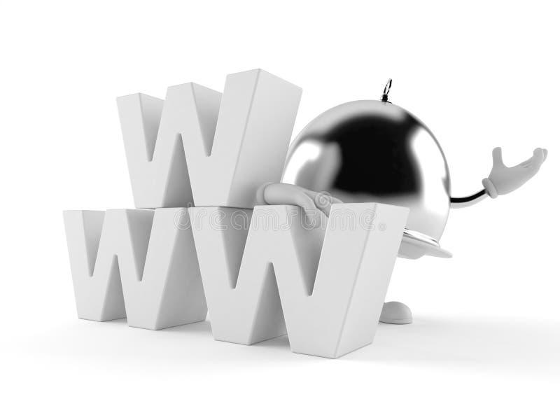 Försilvra att sköta om kupolteckenet med www text stock illustrationer