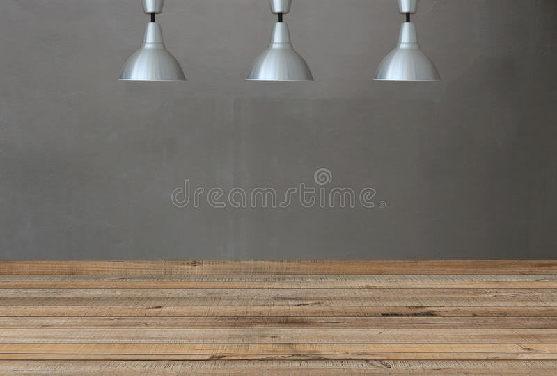 Försilvra lampor på taket och en bakgrund på wi för en betongvägg fotografering för bildbyråer