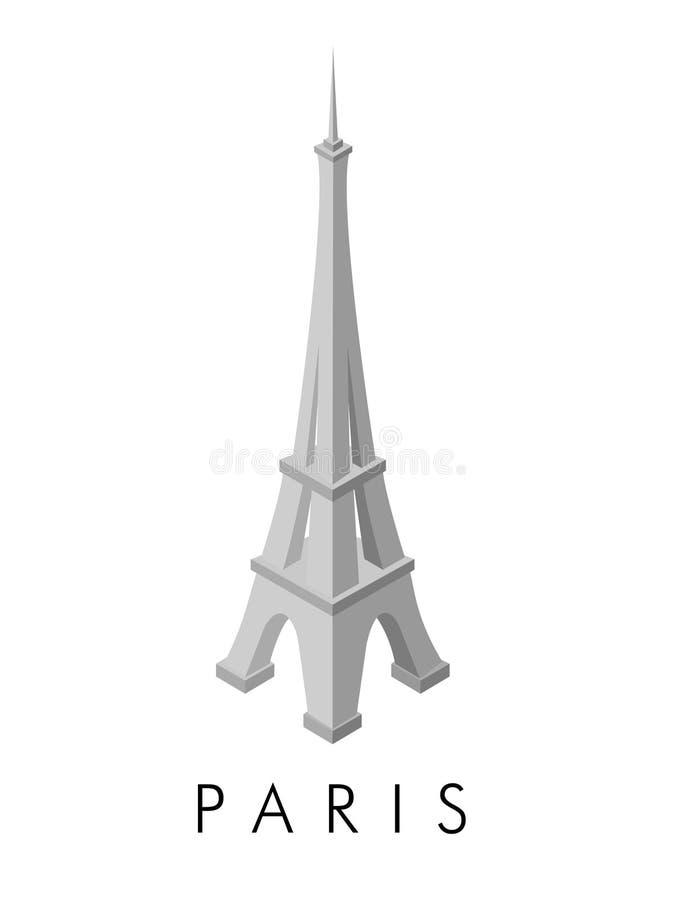 Försilvra och den vita Eiffeltorn arkivfoton