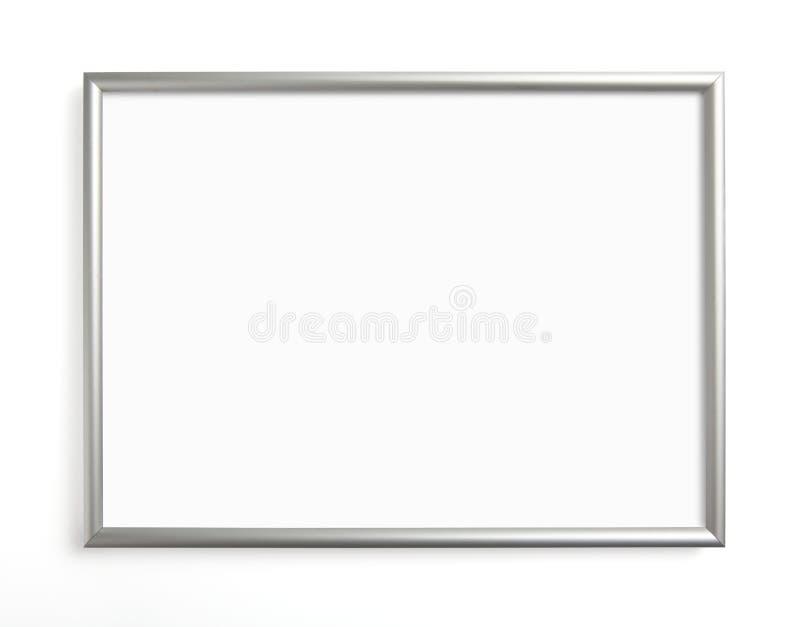 Försilvra ramen för att måla eller föreställa på vit bakgrund royaltyfria foton