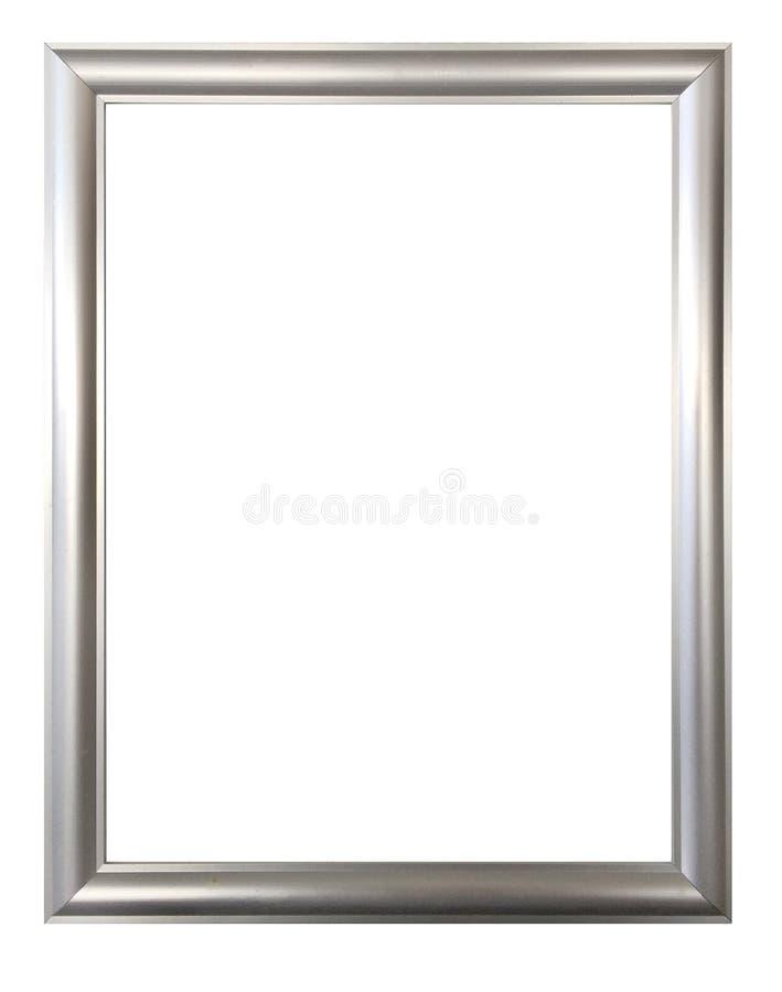 Försilvra ramen för målningar, speglar eller foto fotografering för bildbyråer