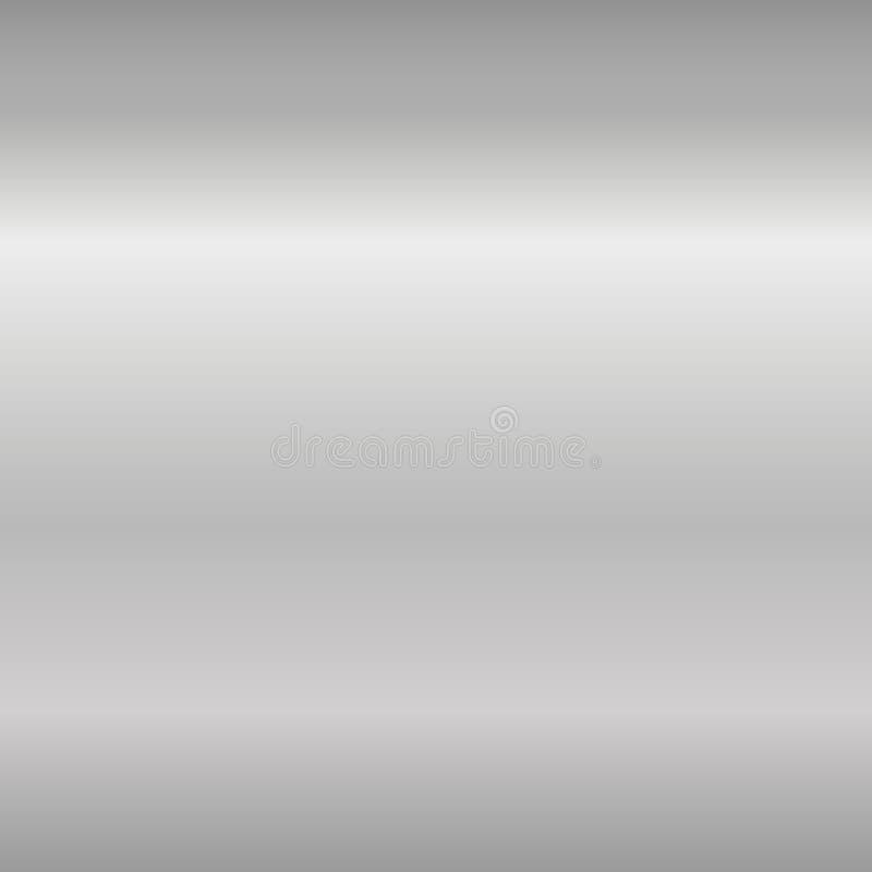 Försilvra slät textur för lutningen Tom grå metallbakgrund Ljus metallisk plattamall, abstrakt modell för stål royaltyfri illustrationer
