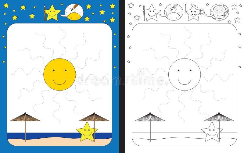 Förskole- arbetssedel vektor illustrationer