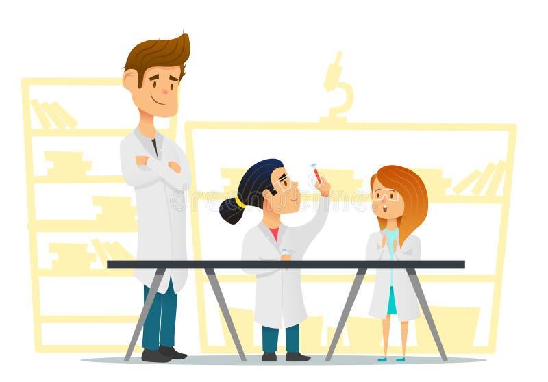 Förskole- bildande aktiviteter och naturvetenskaputbildning vektor illustrationer