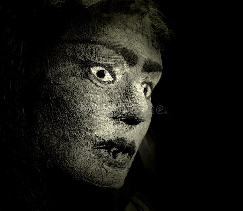 förskräckt dig arkivfoto