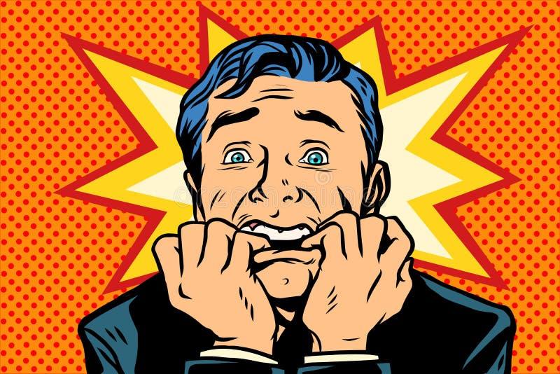 Förskräckt folk, mänskliga sinnesrörelser vektor illustrationer