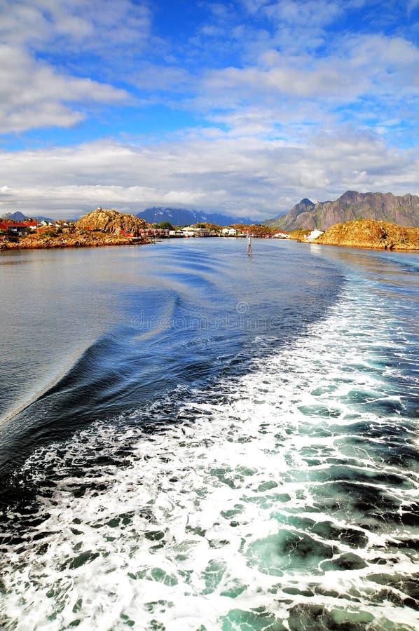 Försommar i de Lofoten öarna Norge fotografering för bildbyråer