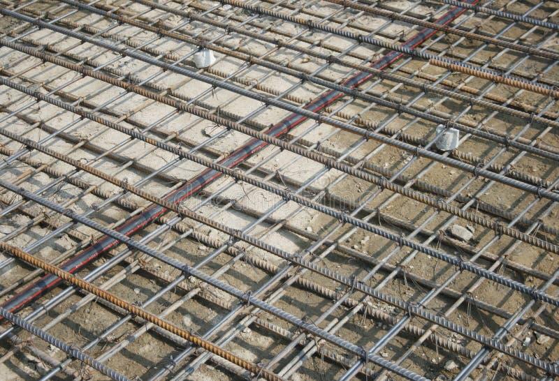 Förstärkning för ingrepp för stålstänger arkivbild