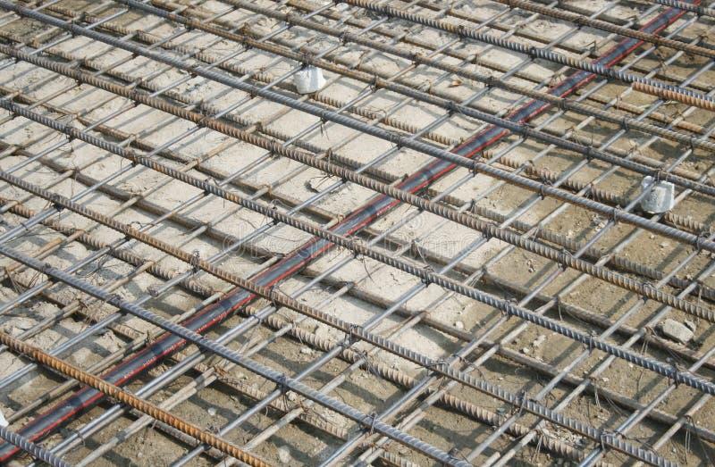 Förstärkning för ingrepp för stålstänger arkivfoto