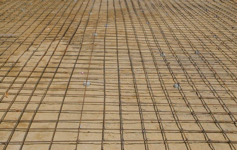 Förstärkning för ingrepp för stålstänger, innan att hälla betong royaltyfria bilder