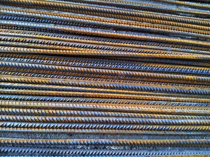 Förstärkningsstänger från varm-rullande stål för konkret förstärkning arkivfoto