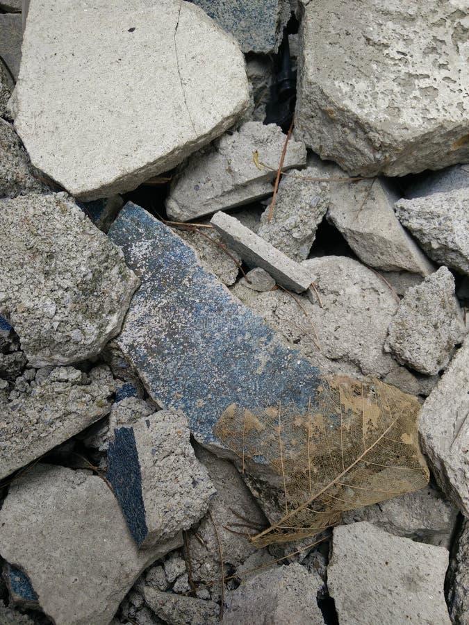 Förstör betong fotografering för bildbyråer