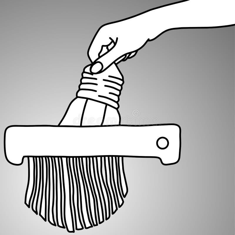 Förstörande idé med illustrationen för dokumentförstöraremaskinvektor royaltyfri illustrationer