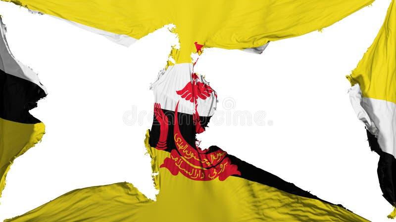 Förstörd Bandar Seri Begawan flagga arkivbild