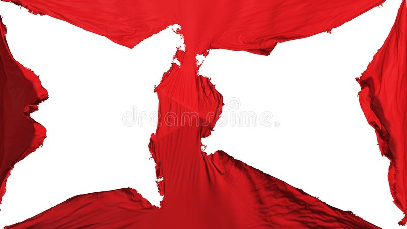 Förstörd Muscat stadsflagga royaltyfri fotografi